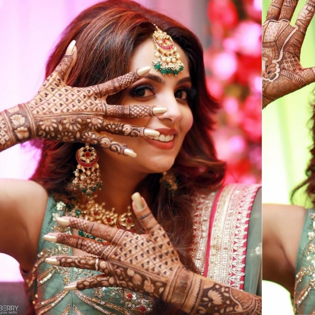 Sugandha Mishra shares stunning pics from Mehendi ceremony ahead of wedding with Sanket Bhosale