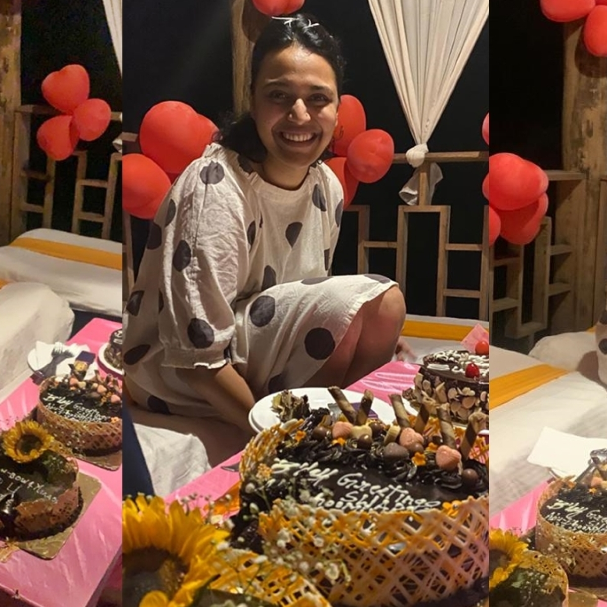 Swara Bhasker gets a special birthday surprise from parents and colleagues