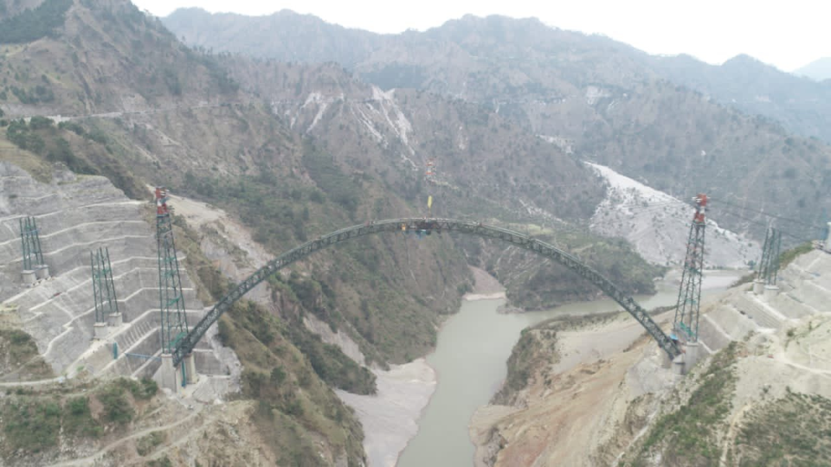 'Moment of pride': Railway Minister Piyush Goyal announces completion of arc closure of Chenab Bridge, world's highest railway bridge