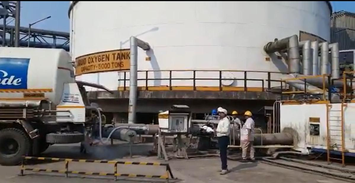 COVID-19: Oxygen Express in Vishakhapatnam loads liquid medical oxygen for Maharashtra; watch video