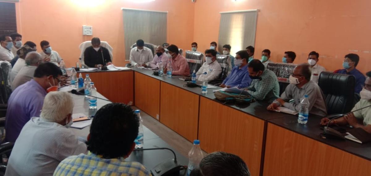 Garoth SDM Ram Prasad Verma presided over a meeting Covid on Saturday