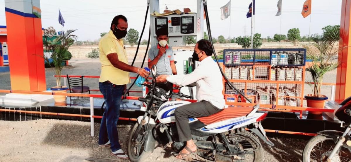 Petrol pump run by Mahashakti Kisan Seva Kendra