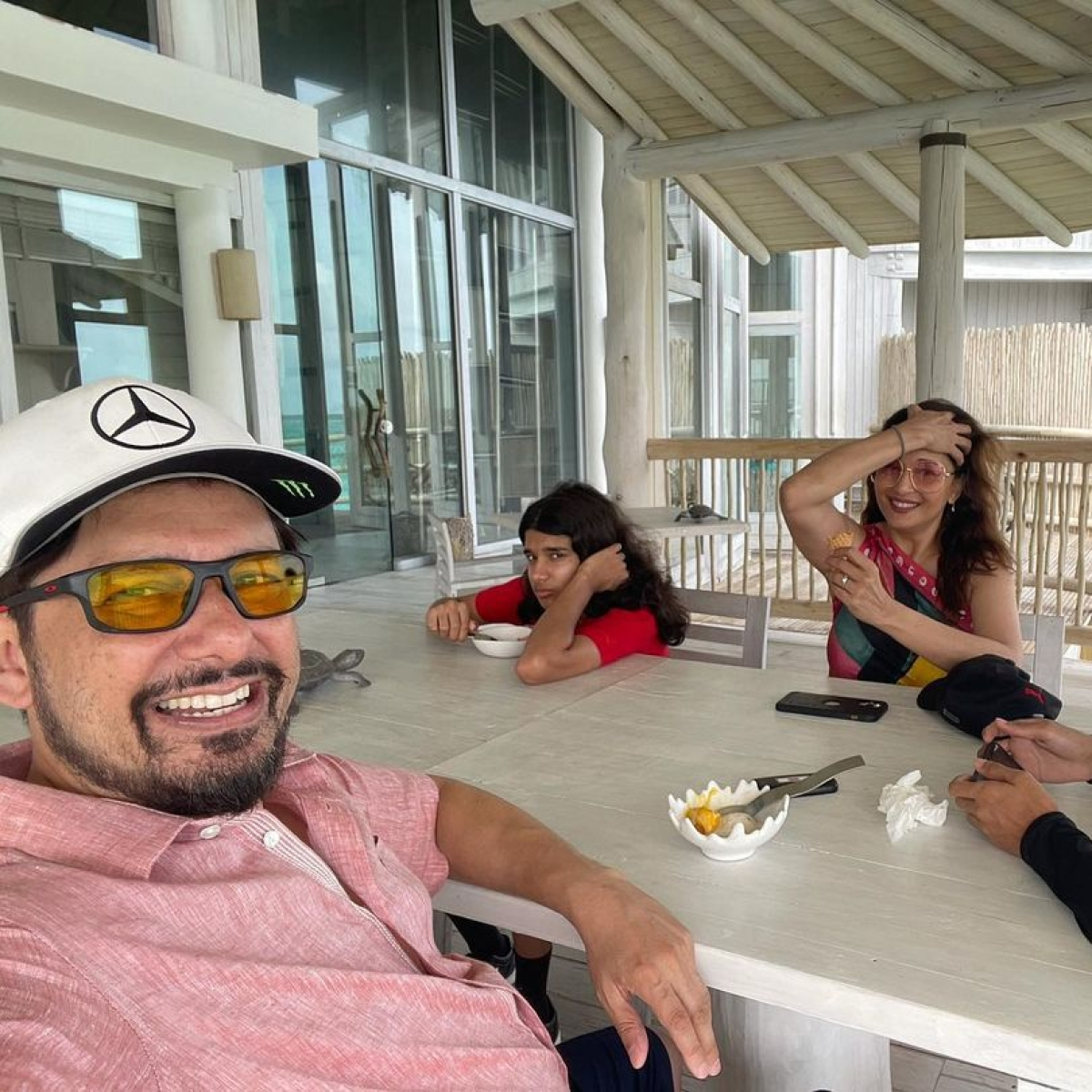 Check out pics, videos from Madhuri Dixit's family vacay with Dr Shriram Nene and kids