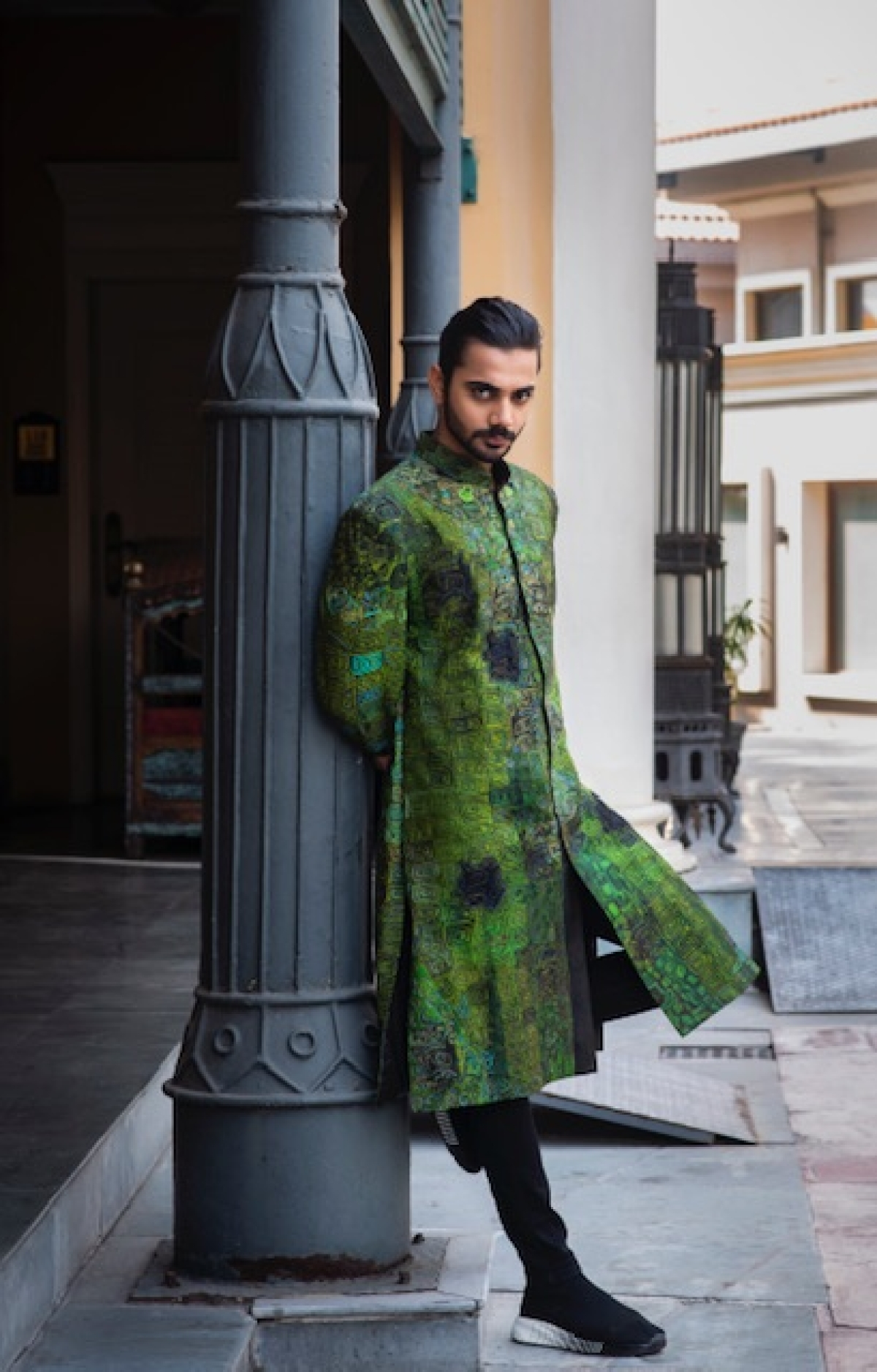 An achkan can make for  an ideal wedding outfit