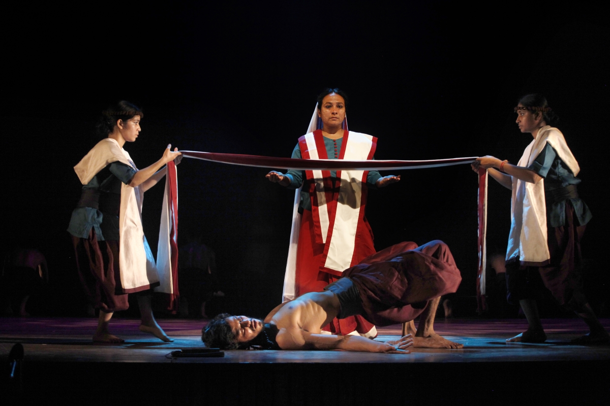 A scene from play, Andha Yug