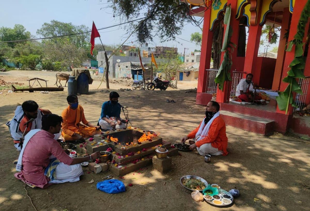 Madhya Pradesh: Locals in Mahidpur organise yagna for welfare of people