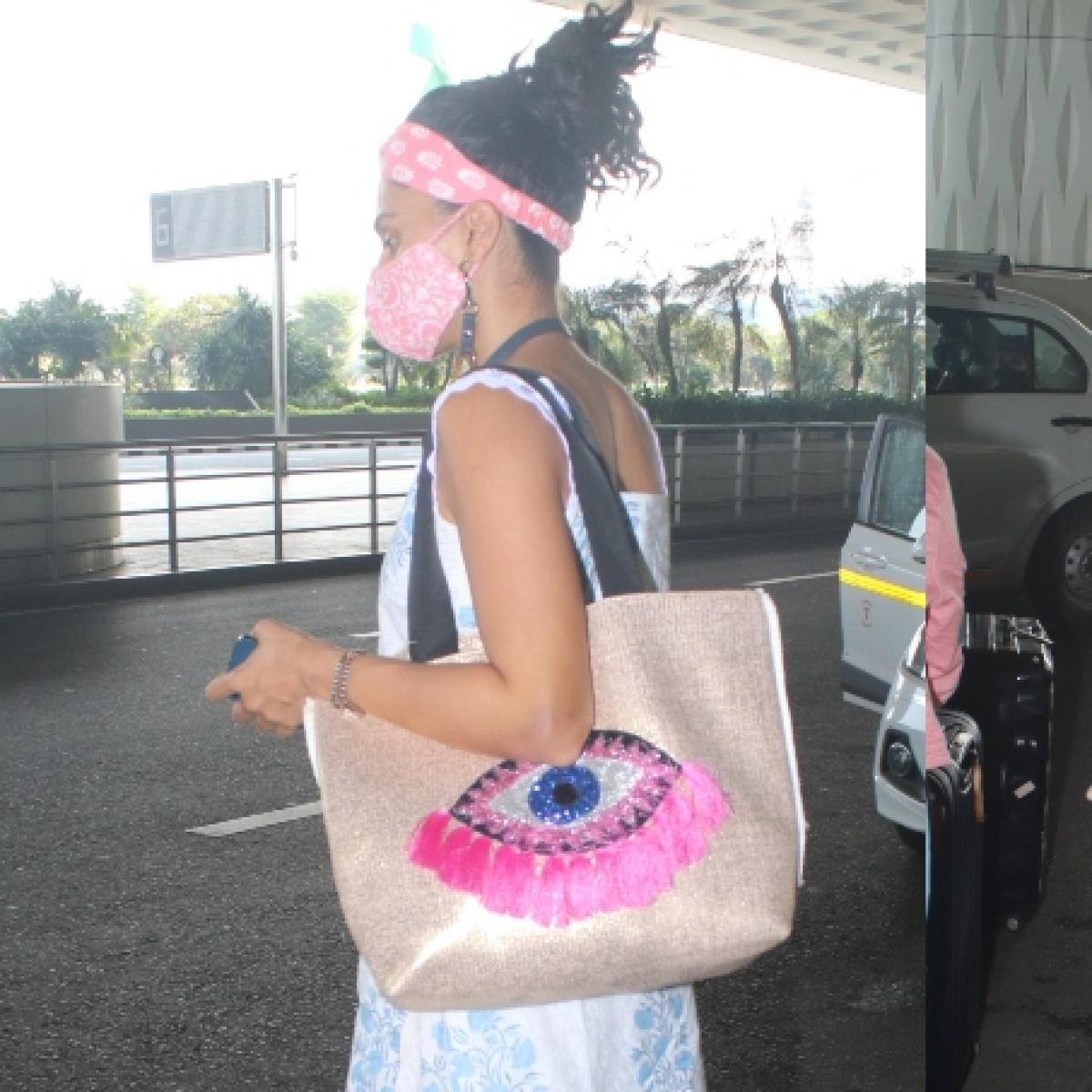 Bigg Boss or Evil Eye? Taapsee Pannu spotted at Mumbai airport with a quirky bag; see pics
