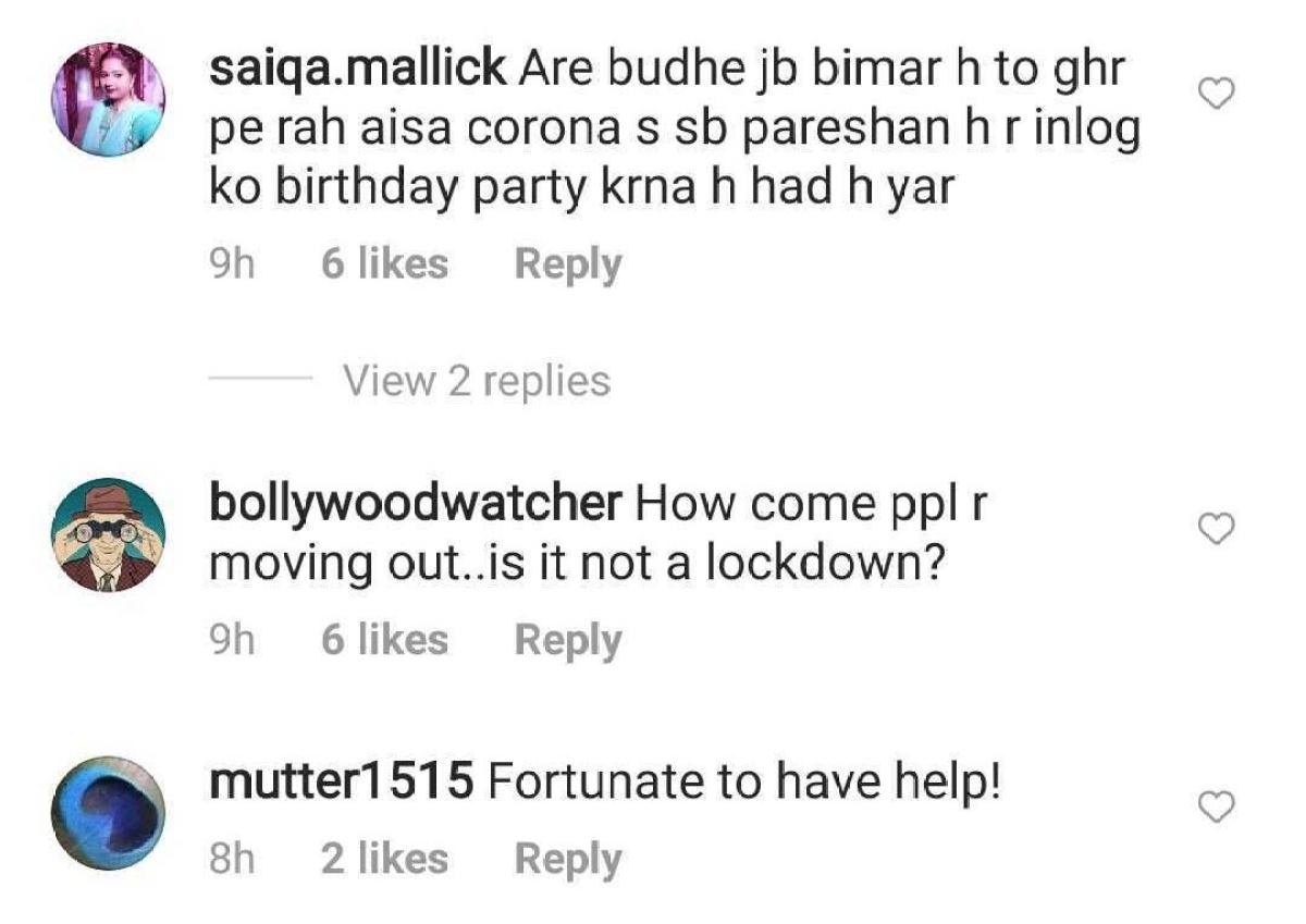 Still partying? Netizens slam Randhir Kapoor for stepping out despite ill health to attend Babita's birthday bash