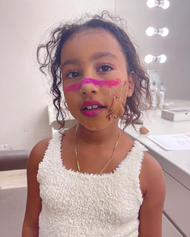 Kim Kardashian's daughter North West's 'creative' makeup look mistaken for peanut butter