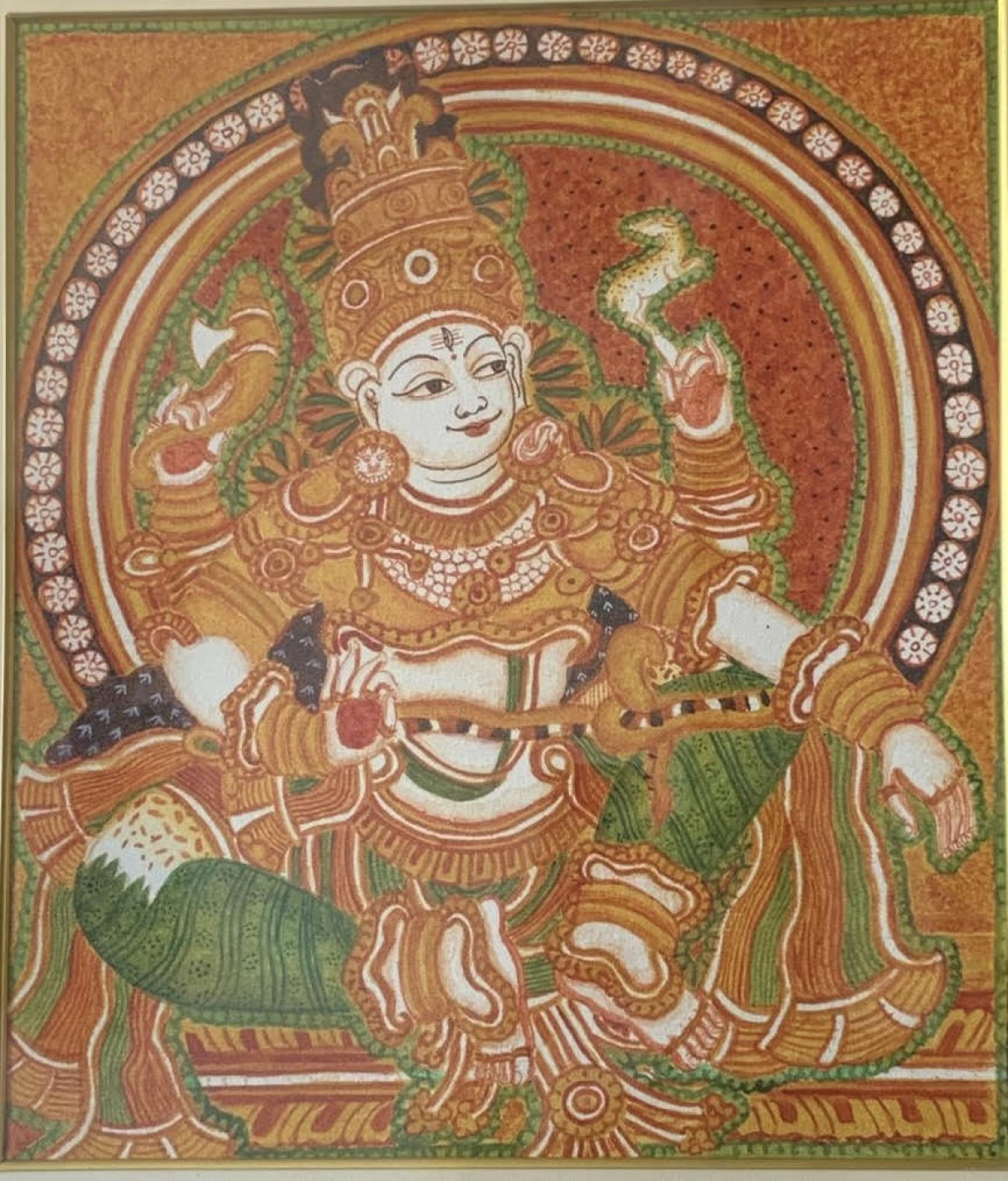 A mural painting by Jai Ganesh Ramnath