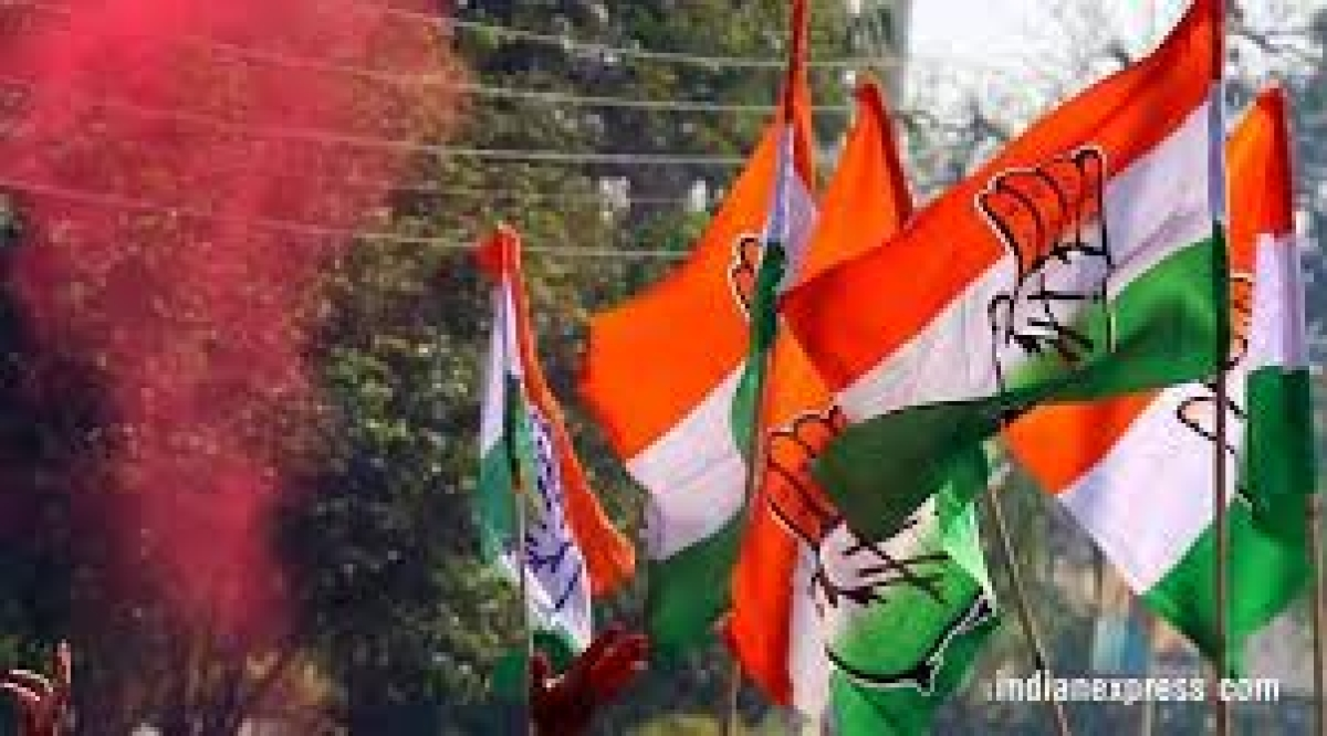 Congress party flags