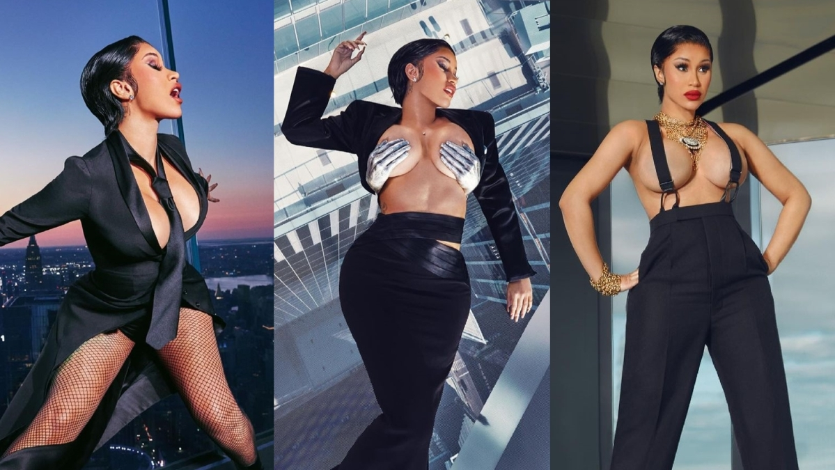 NSFW! Cardi B turns up the heat in a sexy photoshoot on the highest outdoor sky deck in Western Hemisphere