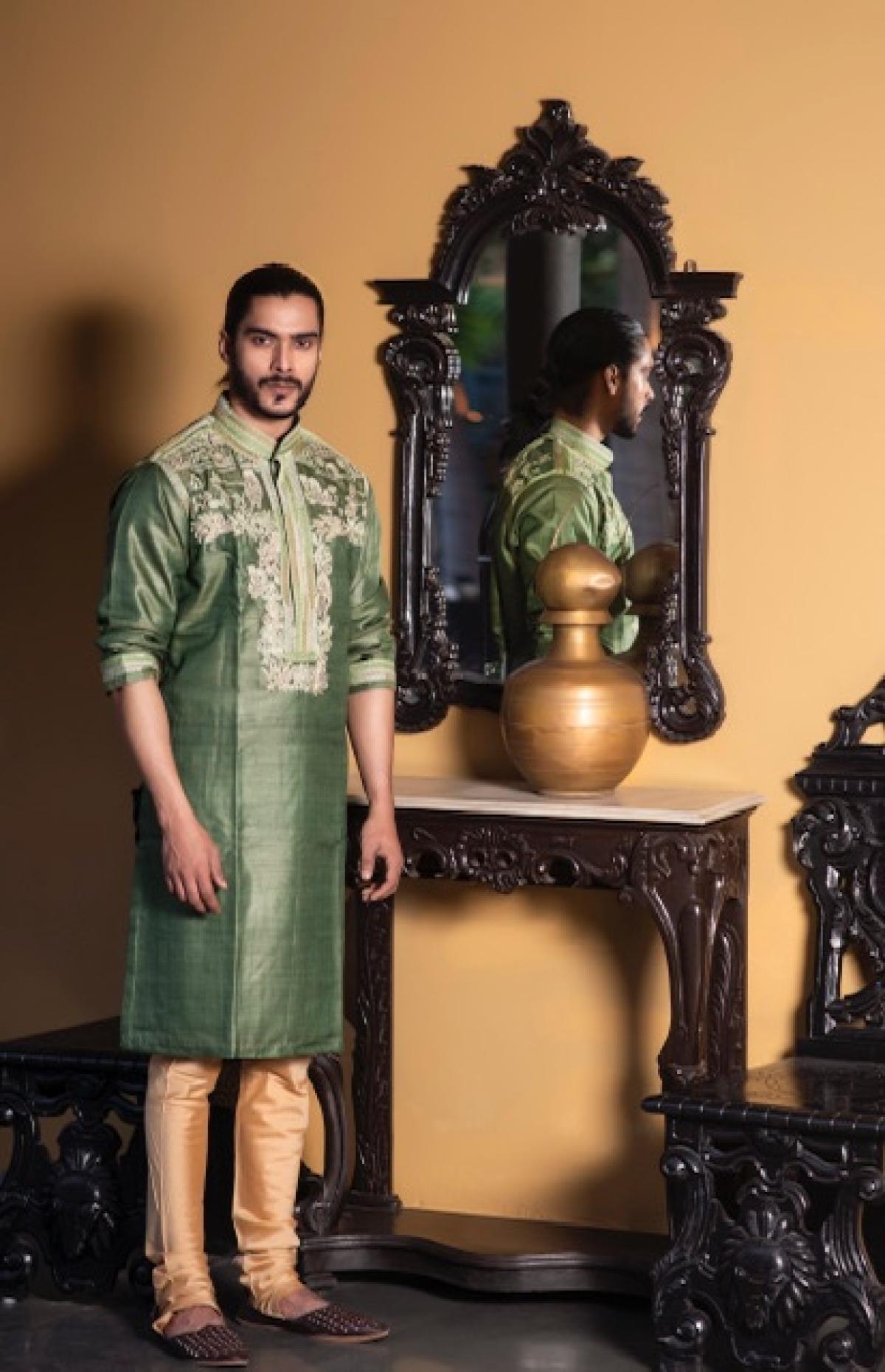 Go classic with a silk sherwani