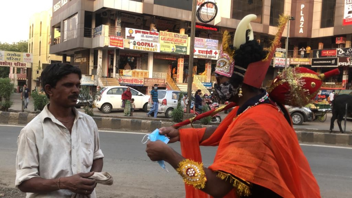 Yamraj asked person to wear mask