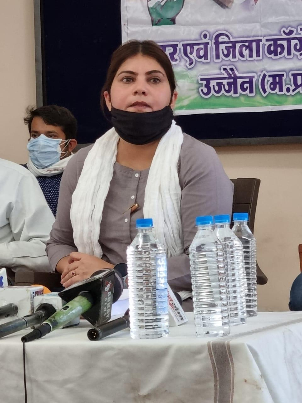 P4: MP Pradesh Congress Committee spokesperson Noori Khan, on Wednesday, makes serious allegations against local administration and state government with regards to their handling of second wave of corona pandemic in Ujjain. FP PHOTO