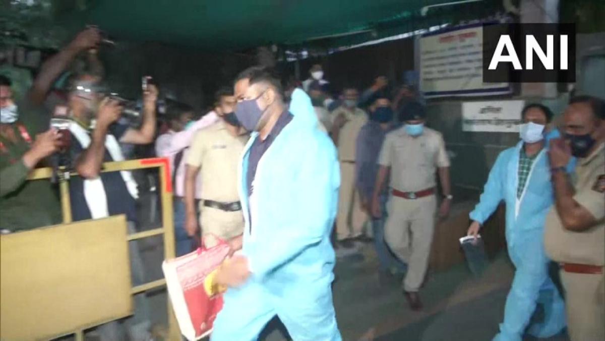 Corruption case: CBI team leaves ex-Maharashtra home minister Anil Deshmukh's residence in Mumbai after conducting searches