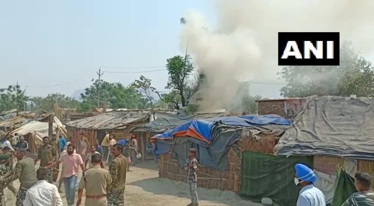 Uttarakhand: Fire breaks out at Bairagi Camp in Kumbh Mela area in Haridwar