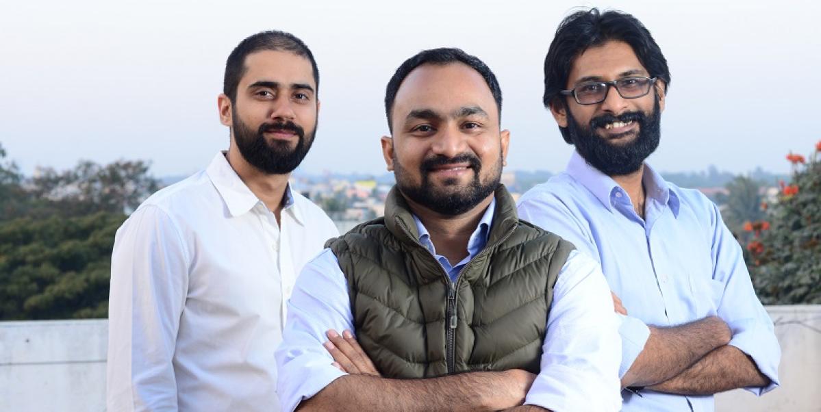 (l-r) Akash Gehani, Sampad Swain, Aditya Sengupta--co founders, Instamojo
