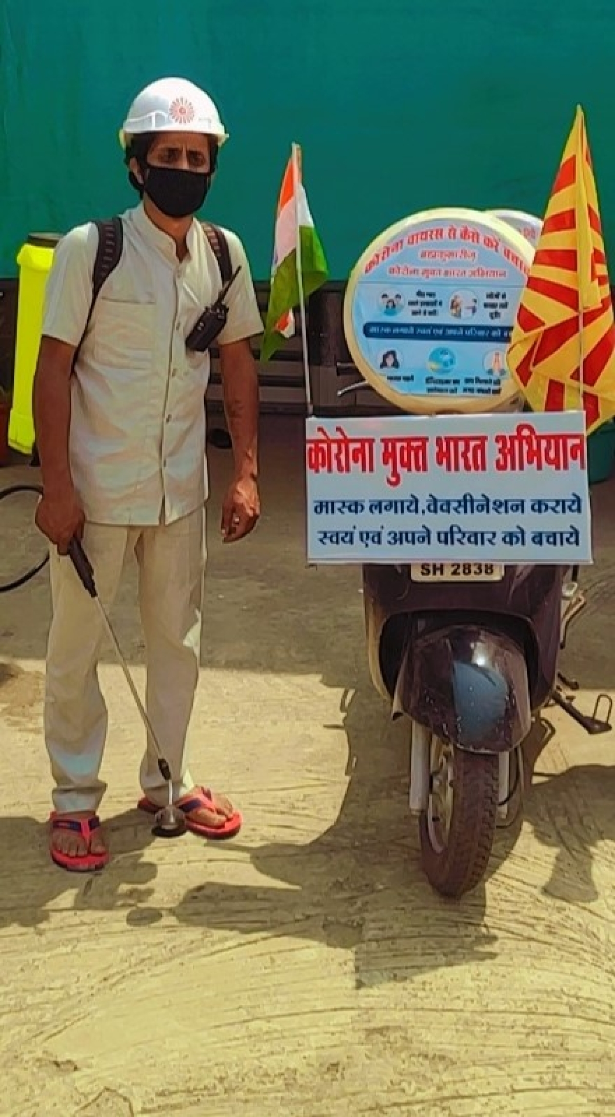 Bhopal: One-man army spreads message on corona protection protocols