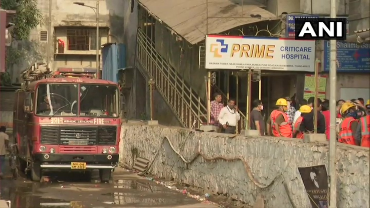 Four patients died due to fire at a private hospital in Mumbra, Thane on Wednesday midnight.