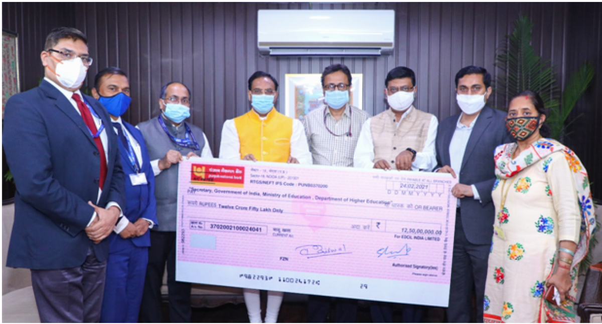 EdCIL pays the highest-ever dividend of Rs 12.5 crore for FY 2019-20