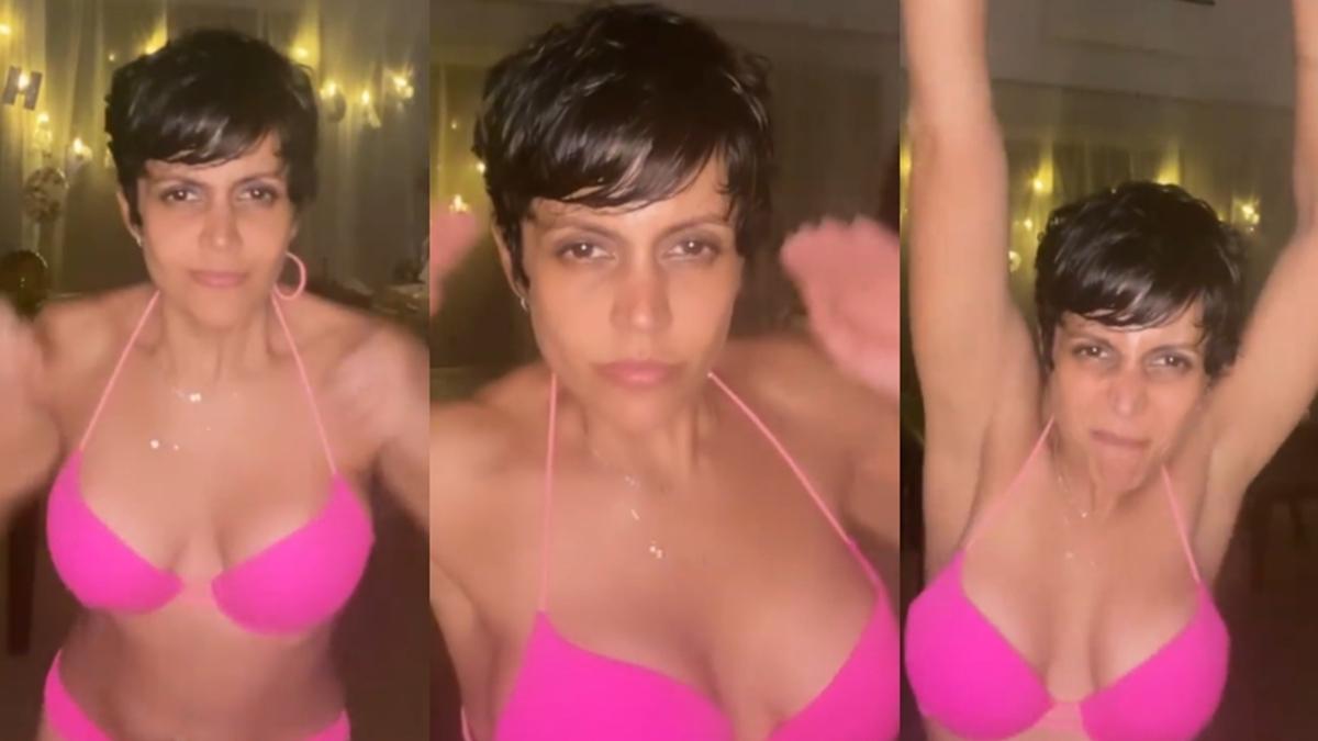 Mandira Bedi celebrates birthday eve in a hot pink bikini by the pool