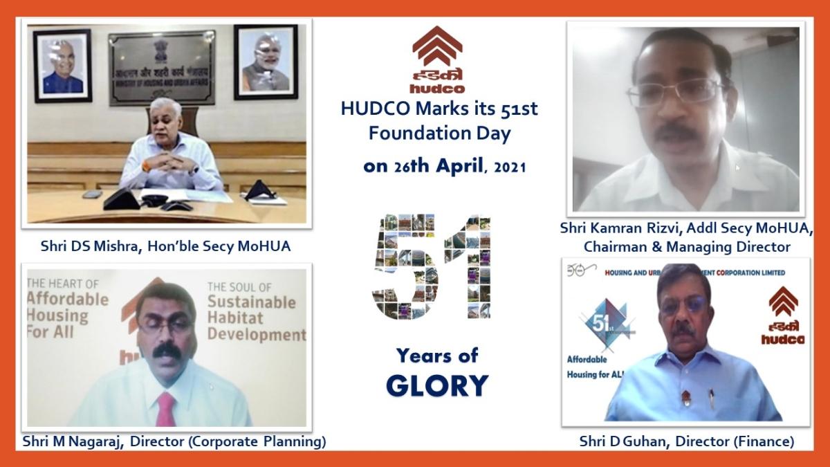 HUDCO celebrates 51st Foundation Day