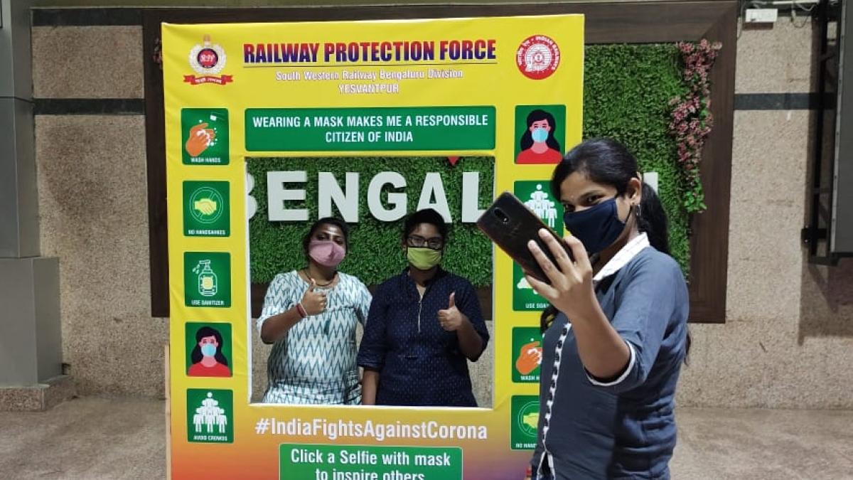 SWR installs selfie booth at Yesvantpur