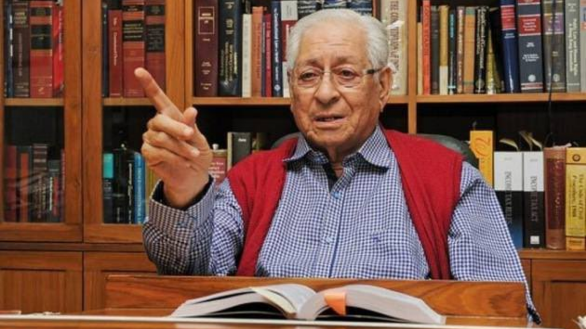 Former Attorney General (AG) and veteran lawyer Soli Sorabjee