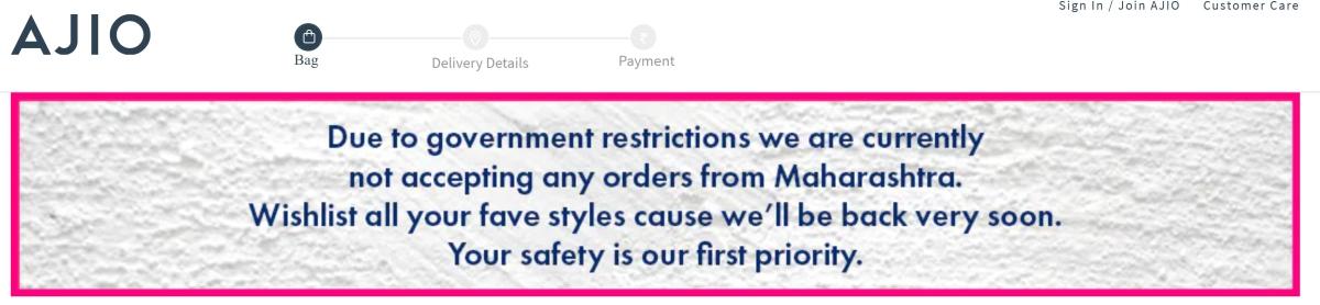 Break the chain: Flipkart, Amazon, AJIO suspend services of non-essentials in Maharashtra