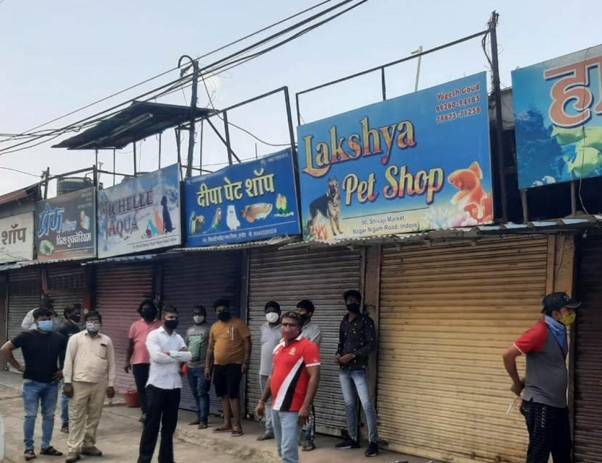 Pet shop owners in Shivaji Market, Indore