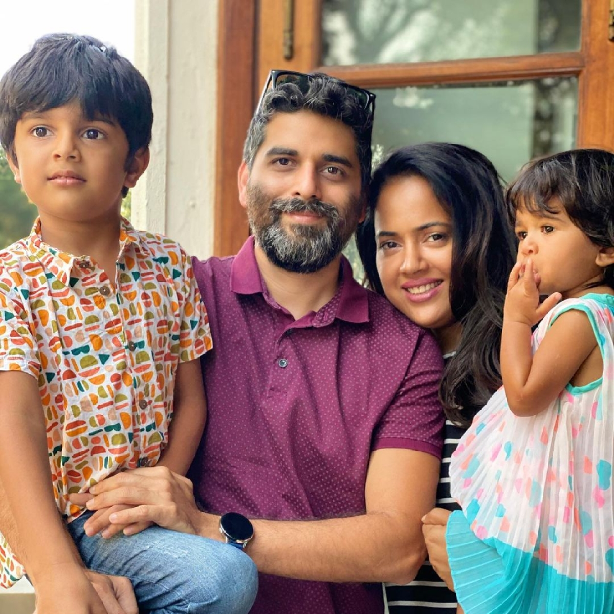 Sameera Reddy's kids Nyra, 2, and Hans, 6, test positive for COVID-19, actress shares health update