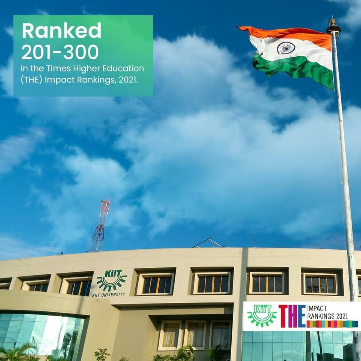 KIIT ranked 201+ globally in Times Higher Education Impact Rankings