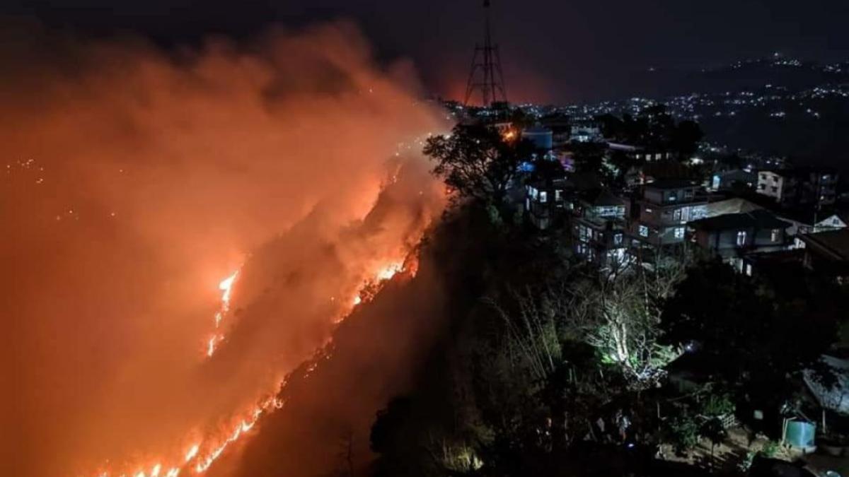 #PrayforMizoram trends on Twitter as bushfire engulfs Lungei and Lawngtlai districts