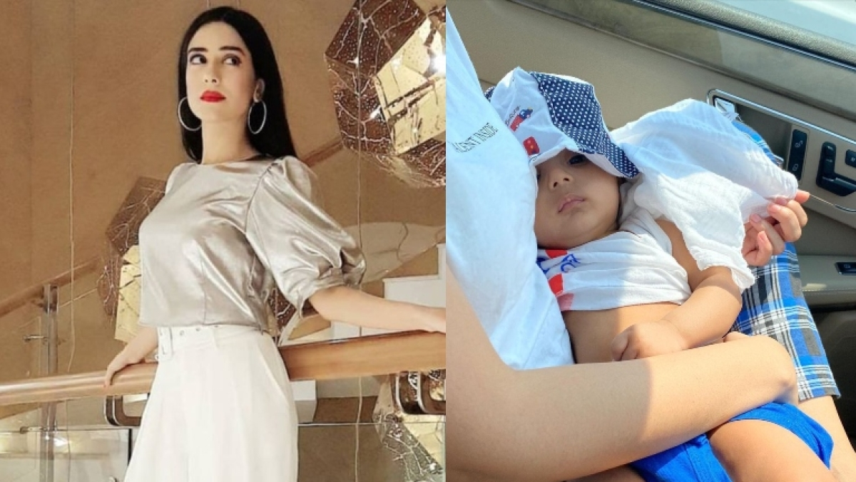 'It can be dangerous': Amrita Rao's gets schooled for not putting son Veer in a baby car seat