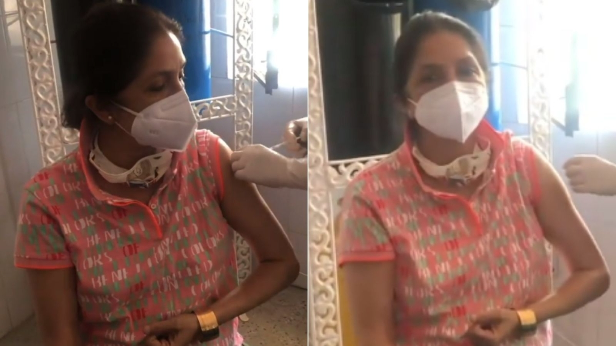Neena Gupta receives second dose of COVID-19 vaccine