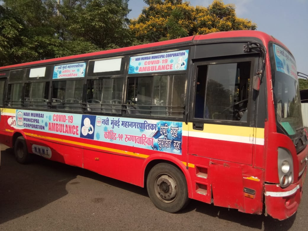 Navi Mumbai: Swamped with COVID-19 cases, NMMC converts 45 NMMT buses into ambulances to meet demand
