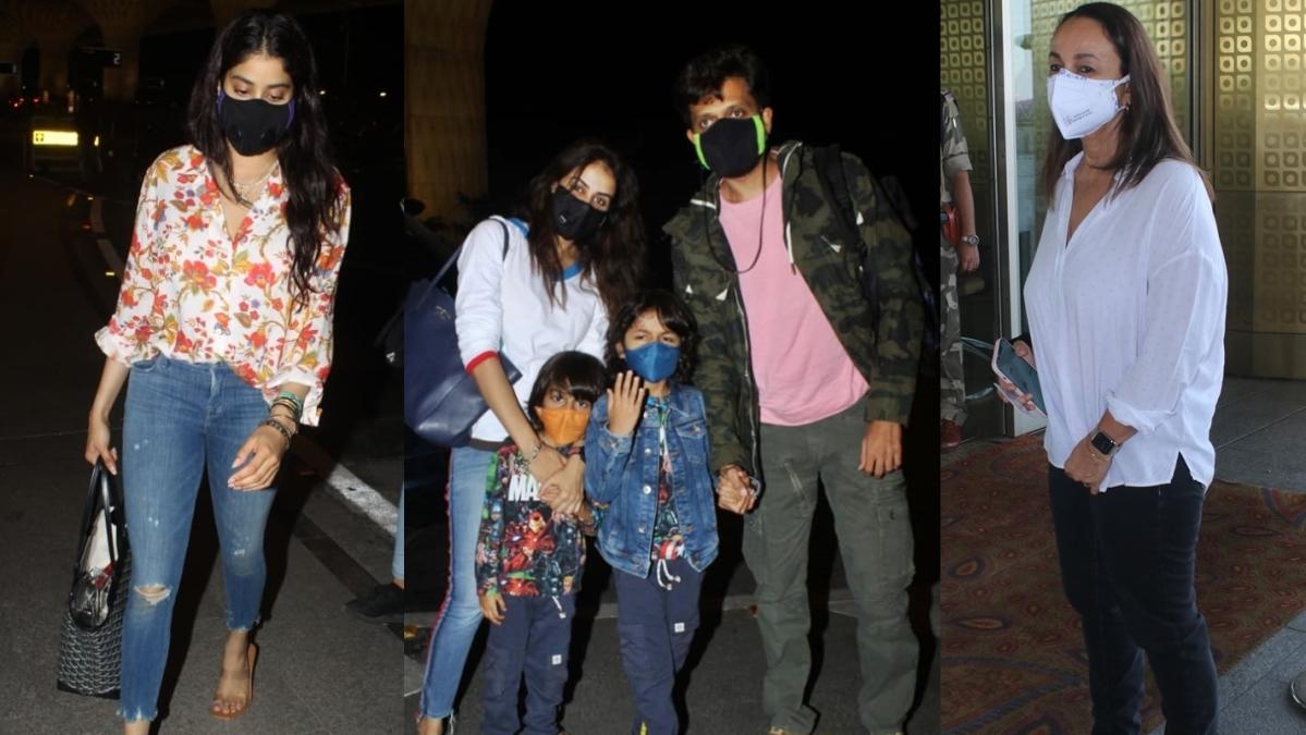 From Janhvi Kapoor to Riteish-Genelia Deshmukh, B-town celebs leave Mumbai amid lockdown