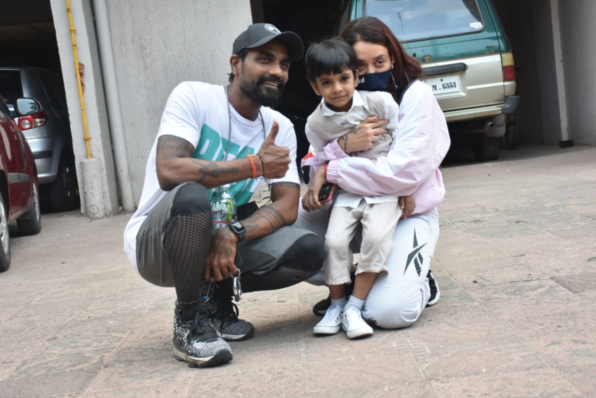 Remo Dsouza with wife