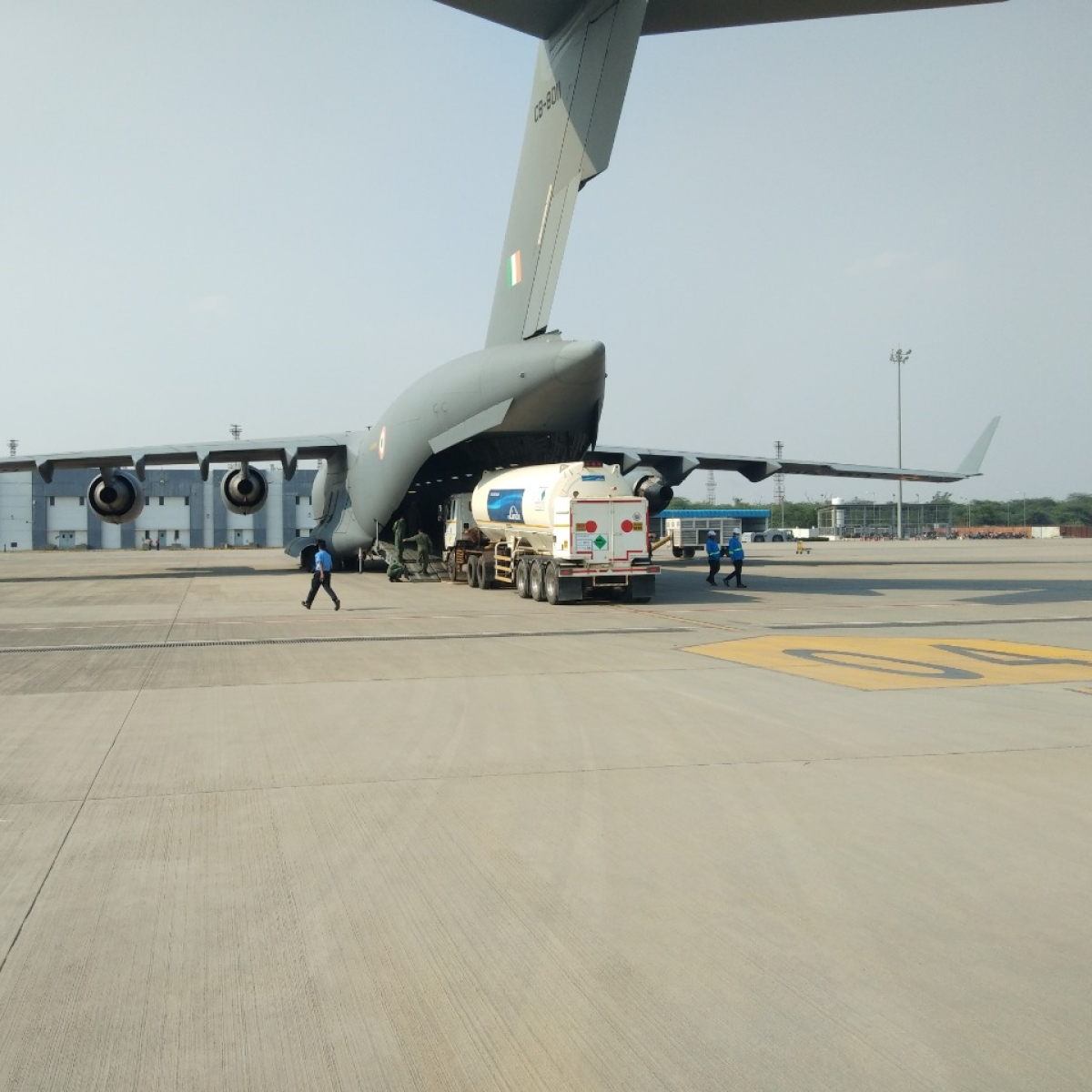 Indian Air Force starts airlifting oxygen tankers to filling stations to speed up supply