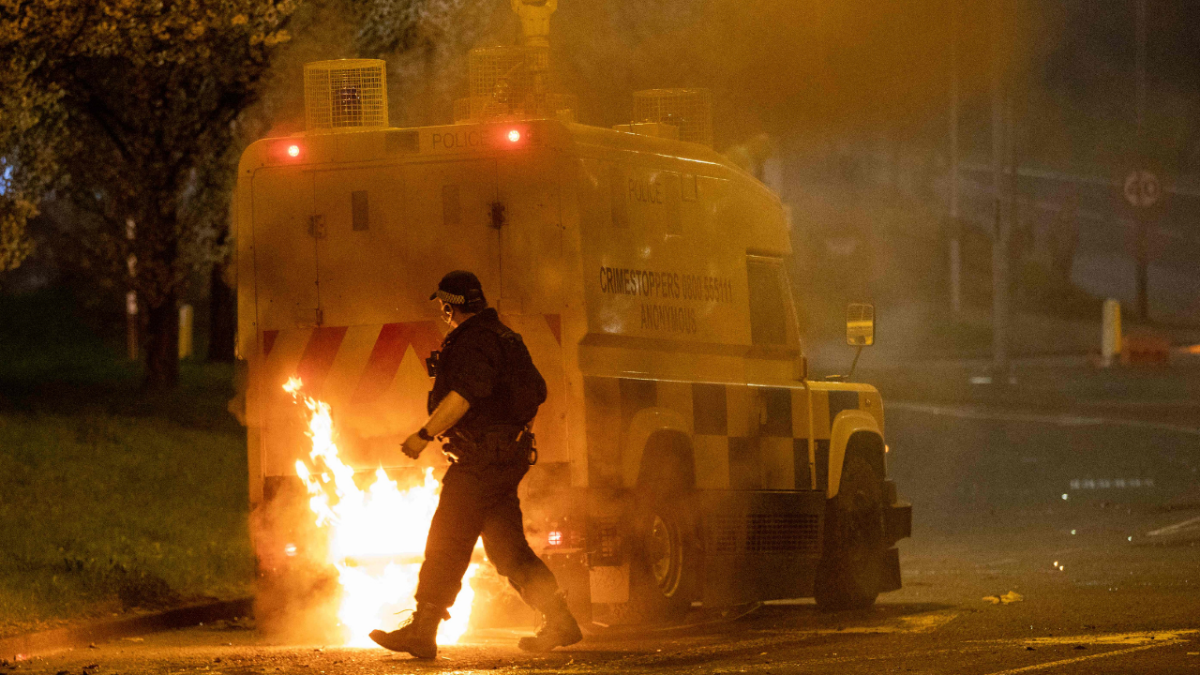PHOTOS: Night of violence in Northern Ireland's Belfast as tension rises over post-Brexit issues