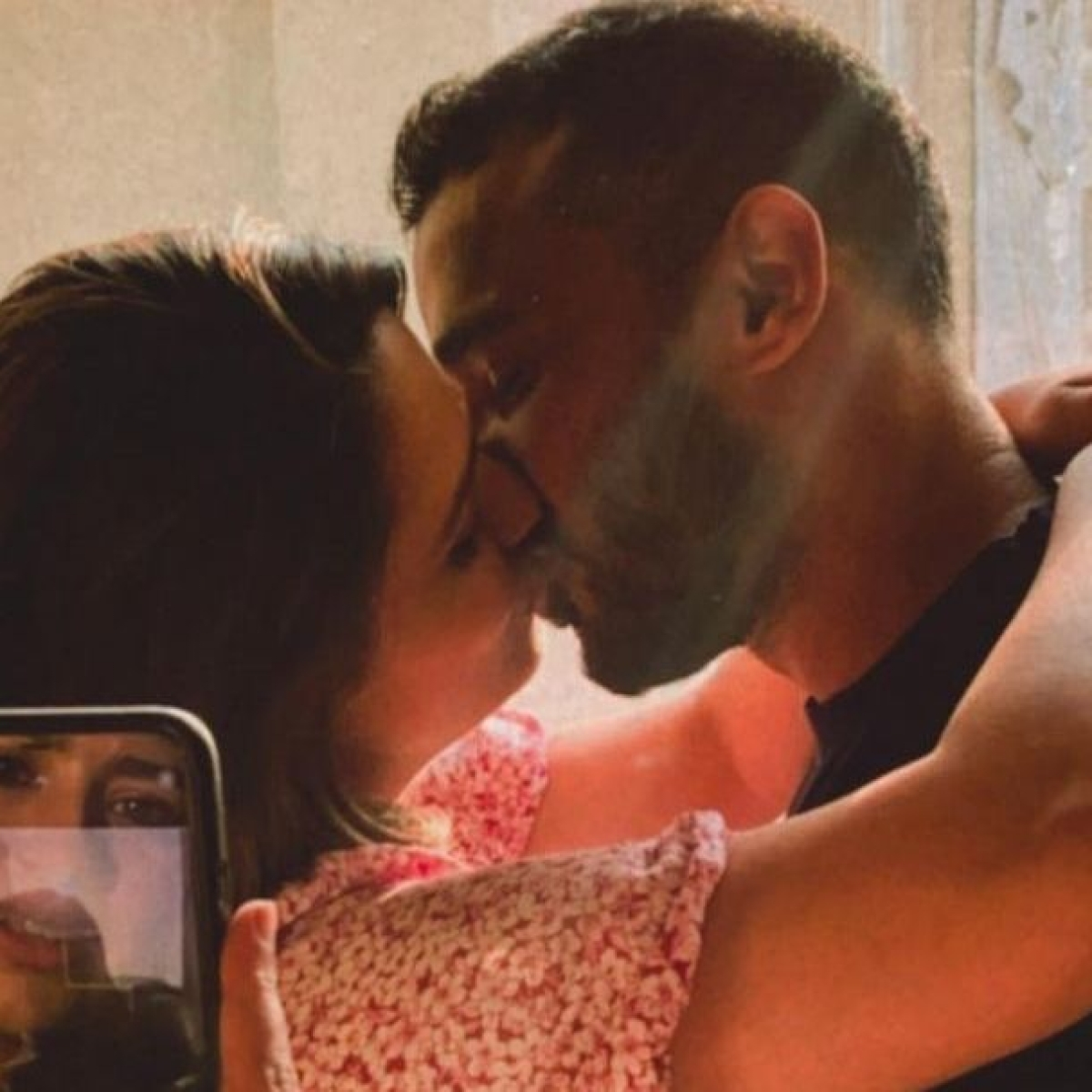Anita Hassanandani and Rohit Reddy steal a kiss but people are 'watching over' their intimate moment