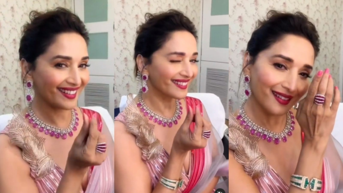 Watch: Madhuri Dixit joins 'Bajre Da Sitta' trend with a gorgeous makeover