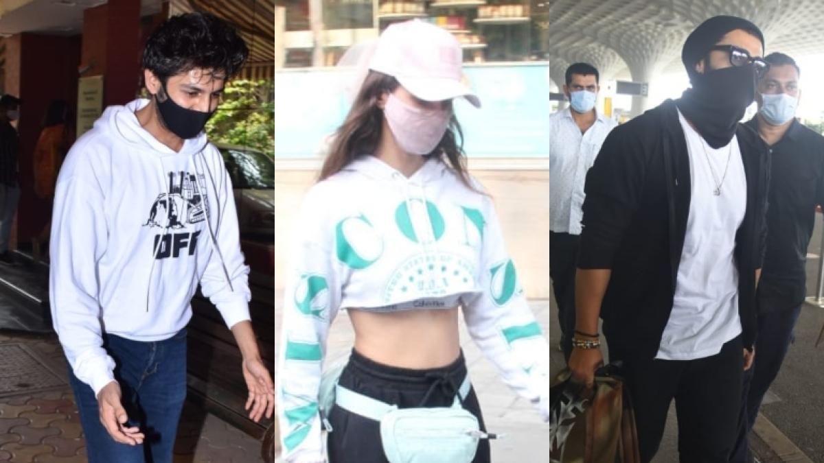 In Pics: Disha Patani, Arjun Kapoor, Kartik Aaryan and other Bollywood actors spotted in Mumbai