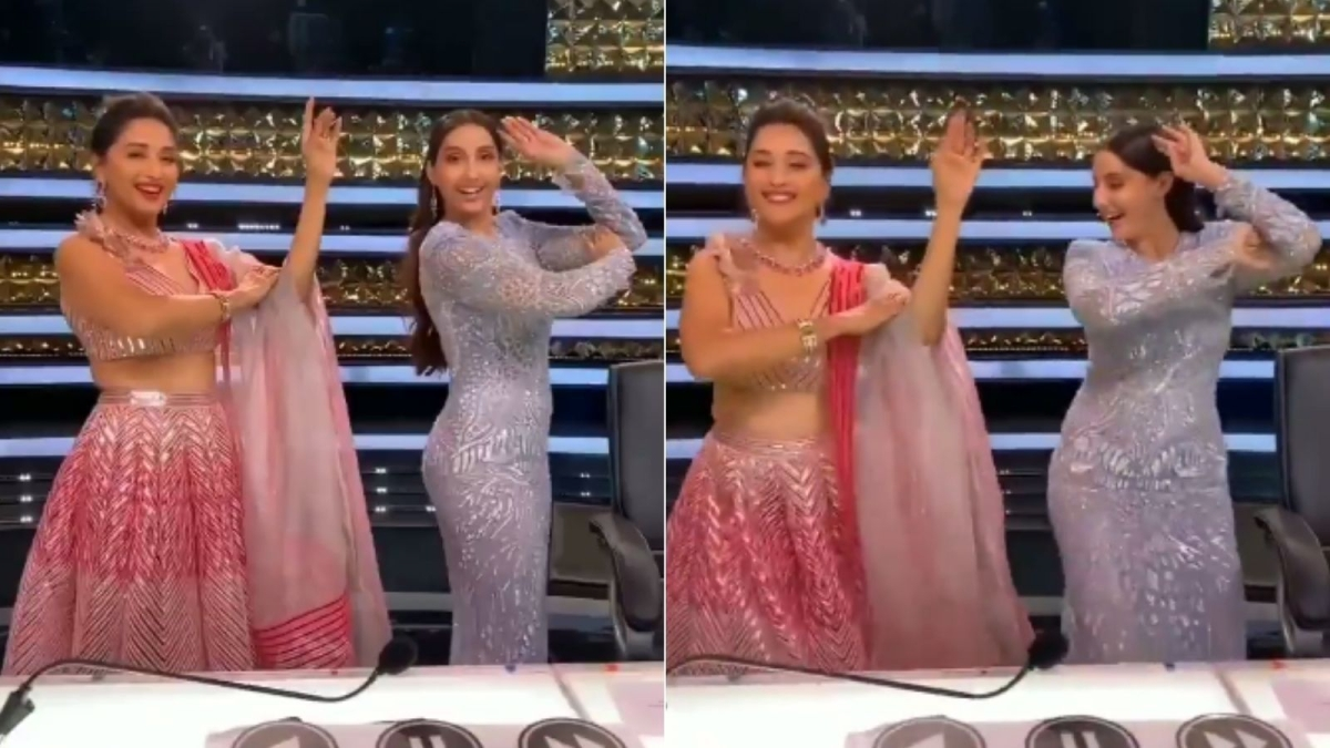 Watch: Madhuri Dixit, Nora Fatehi groove to 'Dilbar' in 'Dance Deewane 3' BTS video