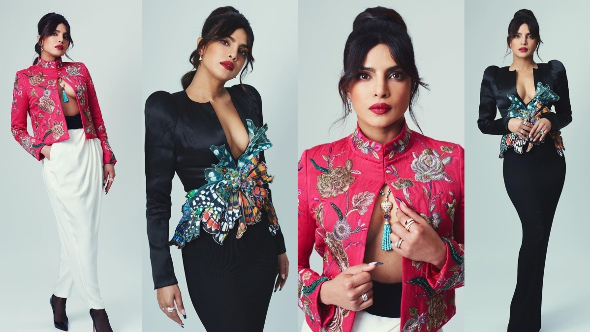 BAFTA 2021: Priyanka Chopra stuns in outfits with plunging neckline as she presents 'Best Animated film'
