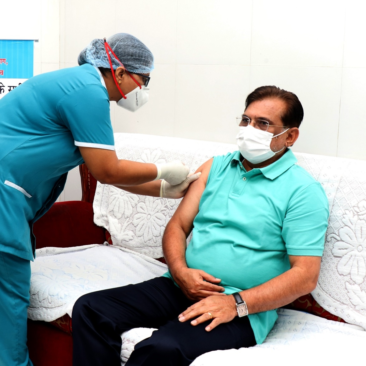 Administrator of Dadra Nagar Haveli and Daman-Diu, Praful Patel gets second vaccination shot of Covid-19