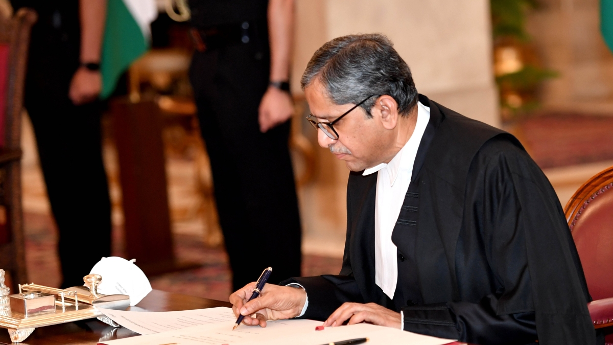 Amid Covid-19 crisis new CJI NV Ramana swears in; promises to defeat pandemic