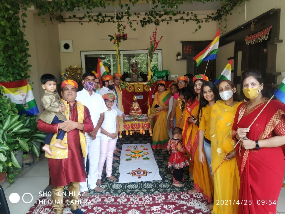 2548th birth anniversary of Lord Mahavir, the 24th Tirthankara of Jainism was celebrated in a muted way in Jain temples with few devotees on Sunday morning.
