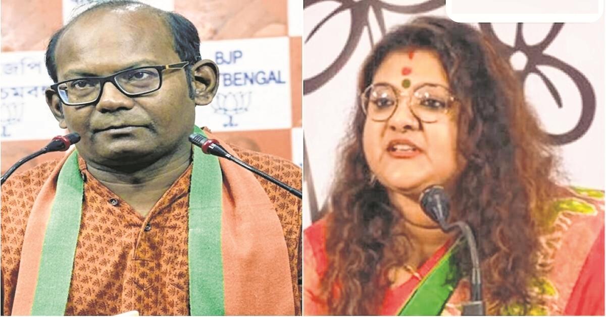 24-hour campaign ban on BJP's Sayantan Basu, TMC's Sujata Mondal